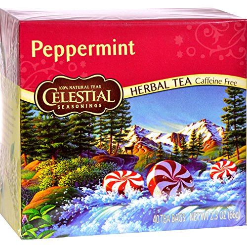 Celestial Seasonings Herb Tea Peppermint 40 bag ( Value Bulk Multi-pack) by Celestial Seasonings