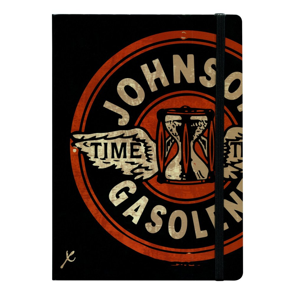 Stifflexible Johnson Gasoline Notebook, 6 X 8.25, Pages, 85gsm Natural White Paper (080L)