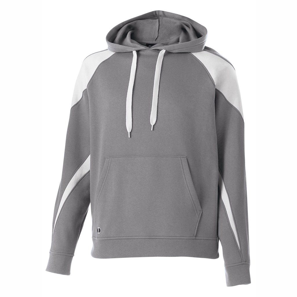 Holloway Youth Prospect Hoodie (X-Large, Charcoal Heather/White) by Holloway