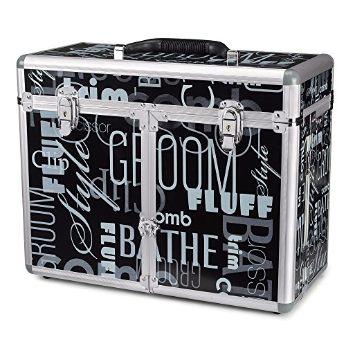 Top Performance Aluminum Grooming Tool Cases - Durable and Versatile Aluminum Cases Designed for the Storage of Grooming Tools and Supplies for the Professional Pet Groomer, Graffiti Black by Top Performance