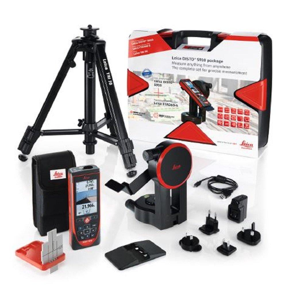 Leica Disto 806677–Pack Misuratore Laser 3d S910Touch + accessorio S910 Kit