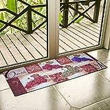 grape bath mat - Ustide Vintage Grapes Design Rug Non Skid Kitchen Floor Mat Waterproof Area Rugs