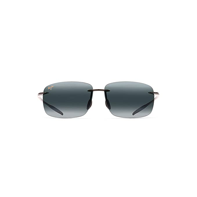 16c17f4f05e Maui Jim Breakwall 422-02 Polarized Square Sunglasses,Gloss Black Frame/Neutral  Grey