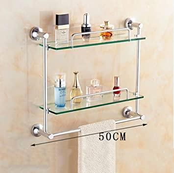 Badezimmer Regal Badezimmer-Glas-Regal, Raum Aluminium-Glas ...