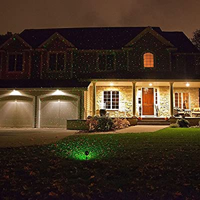 LY-Light Laser Christmas Light Red Green LED Star Projector Show Landscape Wall Garden Decoration Outdoor Waterproof Wireless Remote Control,Wedding Home Party Holiday