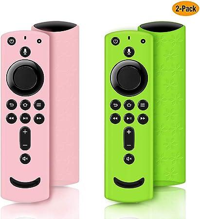 Schutzhülle Für Fire Tv Stick 4k Silikon Für Fire Tv Cube Fire Tv 3 Gen Kompatibel Mit Alexa Voice Fernbedienung Rutschfest Stoßfest Green And Pink Audio Hifi