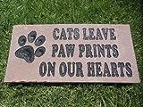 Pet Memorial Engraved Natural Stone - Cat
