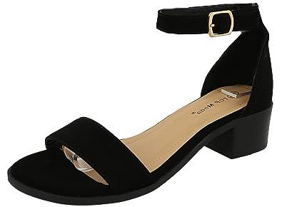 345596bd635f Top Moda Women s Ankle Strap Open Toe Heeled Sandal (6 B(M) US