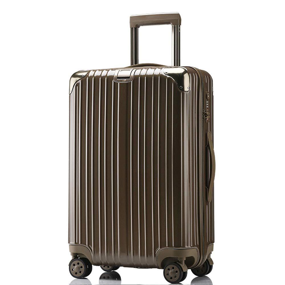 XY トロリーケース - ABS/PC、TSA税関コードロック、高耐圧ローラー、スタイリッシュで防水洗浄が簡単防爆ジッパー万能ホイール学生スーツケース - 4色2サイズあり トランク (色 : ブラック, サイズ さいず : 38*24*59cm) 38*24*59cm ブラック B07R889YCW