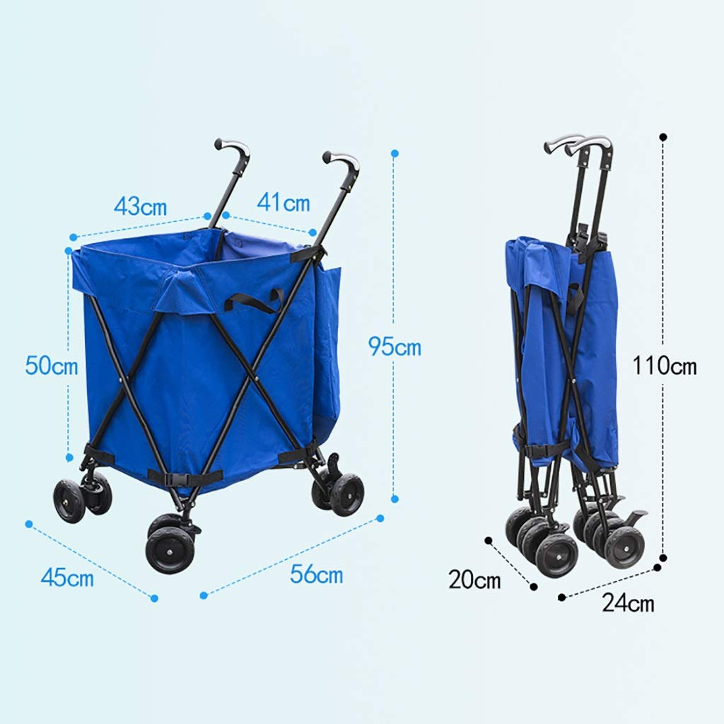 Supermarket Shopping cart, Three Seconds Folding Towel Storage Box Hotel Room Service car Hair Trolley by HT trolley (Image #6)