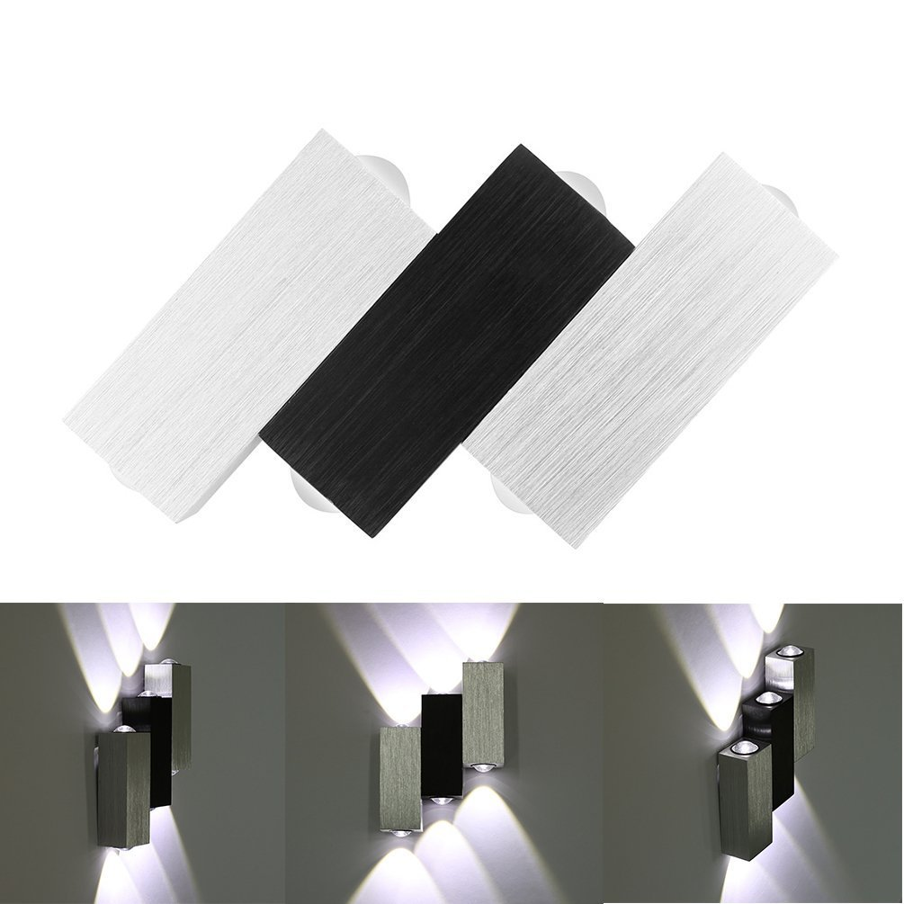 Lightess Moderne 6W LED Wandleuchte Innen Sconce Up und Down ...