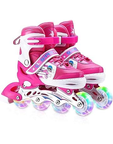 Zeroall Patin /à Roues Align/ées Rollers en Ligne pour Enfants Patins /à roulettes R/églables Inline Skate avec Illumin/ées Roues Excellents Cadeaux pour Enfants Gar/çons Filles