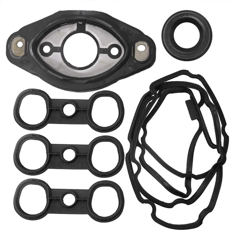Ensun 11127552280 Camshaft Adjuster Eccentric Shaft Actuator Seal +  11127582245 Valve Cover Gasket for BMW N52