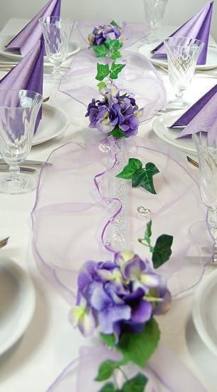 Fibula Style Komplettset Hydrangea Flieder Lila Grosse M