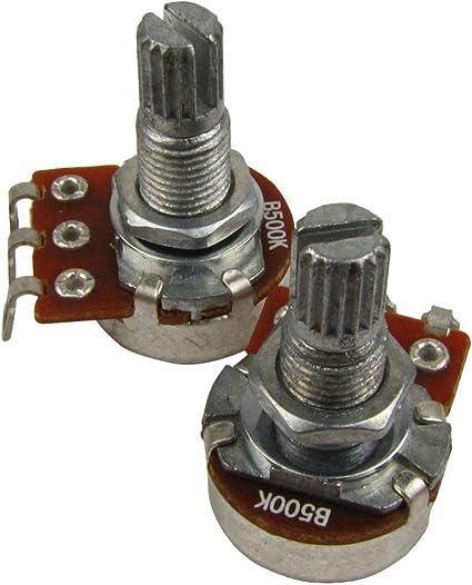 IKN 2pcs B500k L18mm Potenciómetro del tono de la guitarra del ...