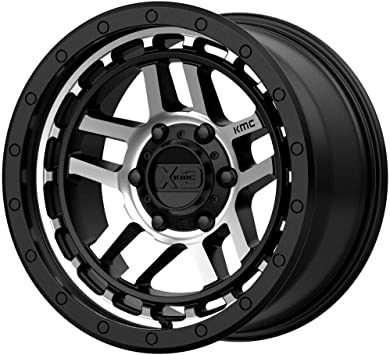20 x 8.25 inches //8 x 121 mm, 127 mm Offset XD SERIES BY KMC WHEELS XD843 GRENADE DUALLY Wheel with BLACK