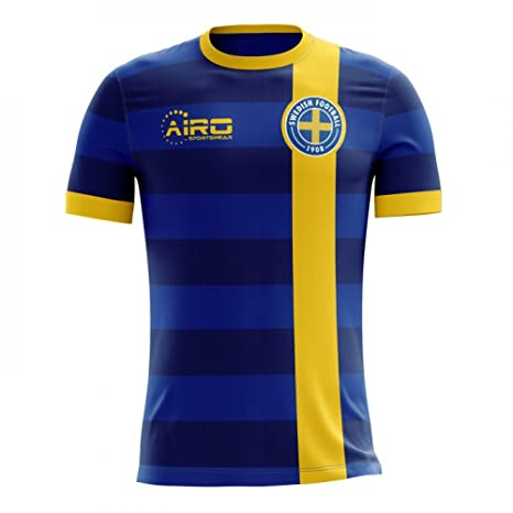 27c20193d72 Amazon.com : Airo Sportswear 2018-2019 Sweden Away Concept Football Soccer  T-Shirt Jersey (Kids) : Clothing
