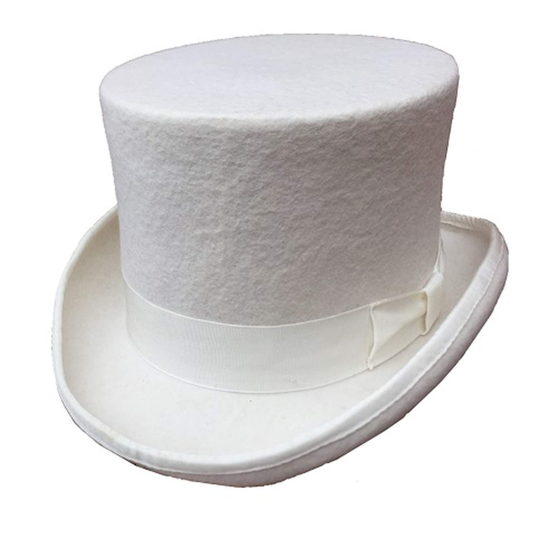 Fedora Hats Wool Felt Top Hat Men Women Topper Many Colors Red White Black Grey