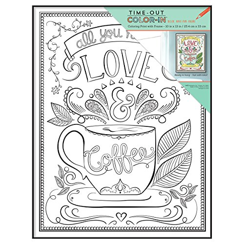Amazon.com: MCS Time-Out Color-In Framed Adult Coloring Page with ...