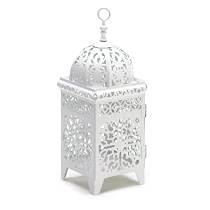 Tremendous 25 White Moroccan Wedding Candle Lantern Centerpieces Download Free Architecture Designs Sospemadebymaigaardcom