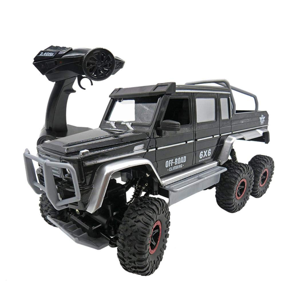 1:12 G63 6x6 RC Racing Climbing Cars 6WD 2.4GHz Case Truck Off-Road Buggy Student Toys Gift 12inch 4016.519.5cm (Black)