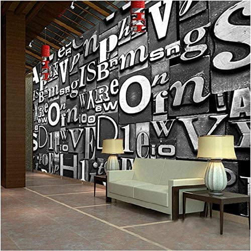 Hwhz 3d Letters Wallpaper European Vintage Style Custom Large Wall Mural Living Room Bedroom Ktv Sofa Backdrop Wall Mural Wallpaper A250x175cm