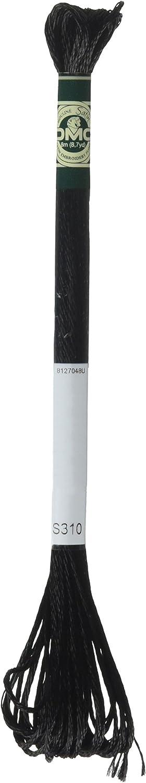 Black 8.7-Yard DMC 1008F-S310 Shiny Radiant Satin Floss