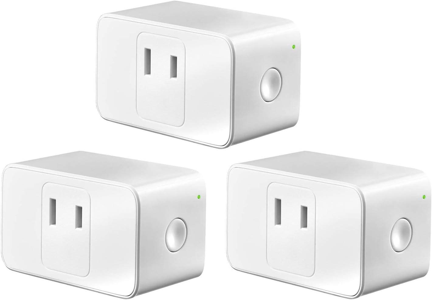 Meross WIFIスマートプラグ スマートコンセント Alexa/Google Home/IFTTT/LINE Clova対応 コンセント スマート 電源制御 遠隔操作(3個入り)