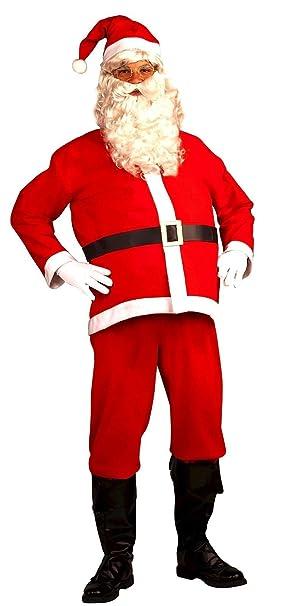 2c87a0d89 Amazon.com  5 Piece Santa Suit Set Christmas Santa Claus Costume ...