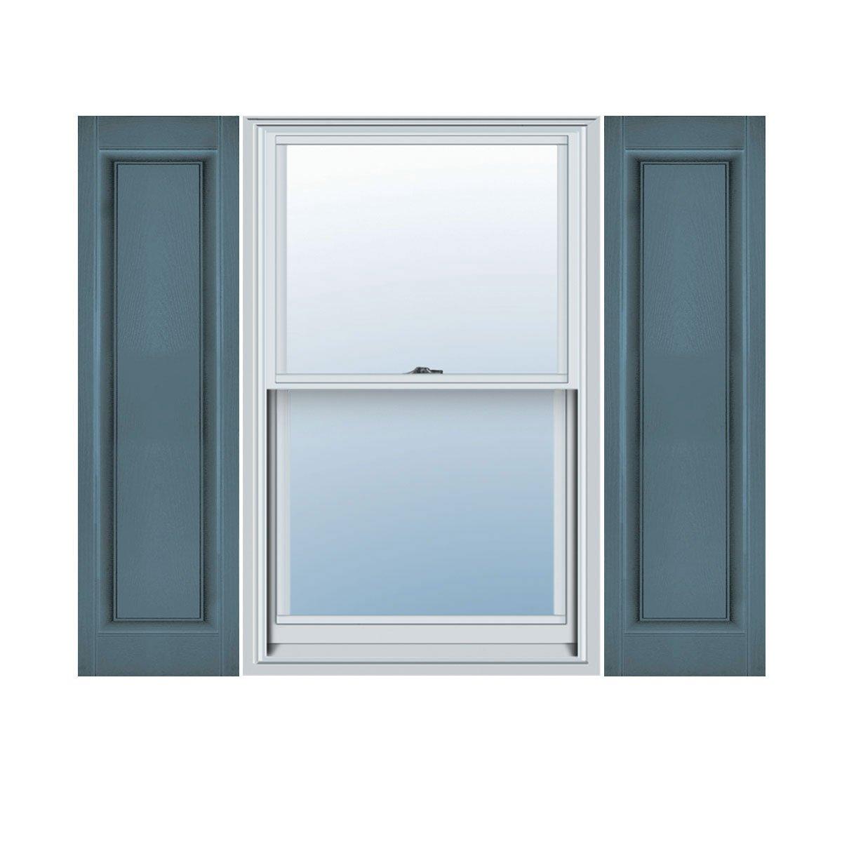 Ekena Millwork LP1C12X03800WB Custom Single Panel, Raised PanelShutter (Per Pair)12''W x 38''HWedgewood Blue by Ekena Millwork