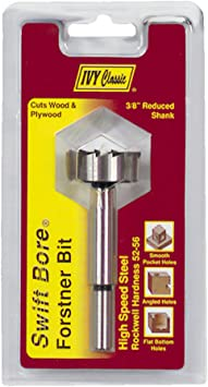 1//Card IVY Classic 46134 2-1//8 x 3-1//2-Inch Forstner Bit High-Speed Steel 3//8-Inch Shank