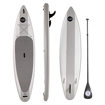 Haxton - Kit de Paddle Board hinchable con kit de reparación, 330 x 76 x 15 cm, gris: Amazon.es: Deportes y aire libre