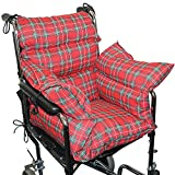 Plaid Comfort Cushion Soft Wheelchair Accessory Helps Prevent Pressure Sores by Rose Healthcare