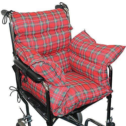 Plaid Comfort Cushion Soft Wheelchair Accessory Helps Prevent Pressure Sores (Wheelchair Accessories)