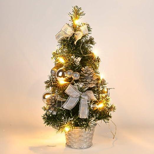 ONEWELL 40cm Árbol de Navidad de Mesa,Mini Árbol de Navidad ...