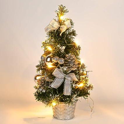 Amazon.com: Gsha Tabletop Pre-lit Christmas Tree Artificial Small ...