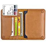 LeeFirst Passport Holder Case,Genuine Leather RFID Blocking Passport Holder Cover and Travel Wallet Case (Brown)