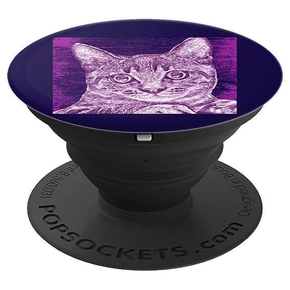 Amazon com: Cool Distressed Cat Kitten Animal Art Pop Socket