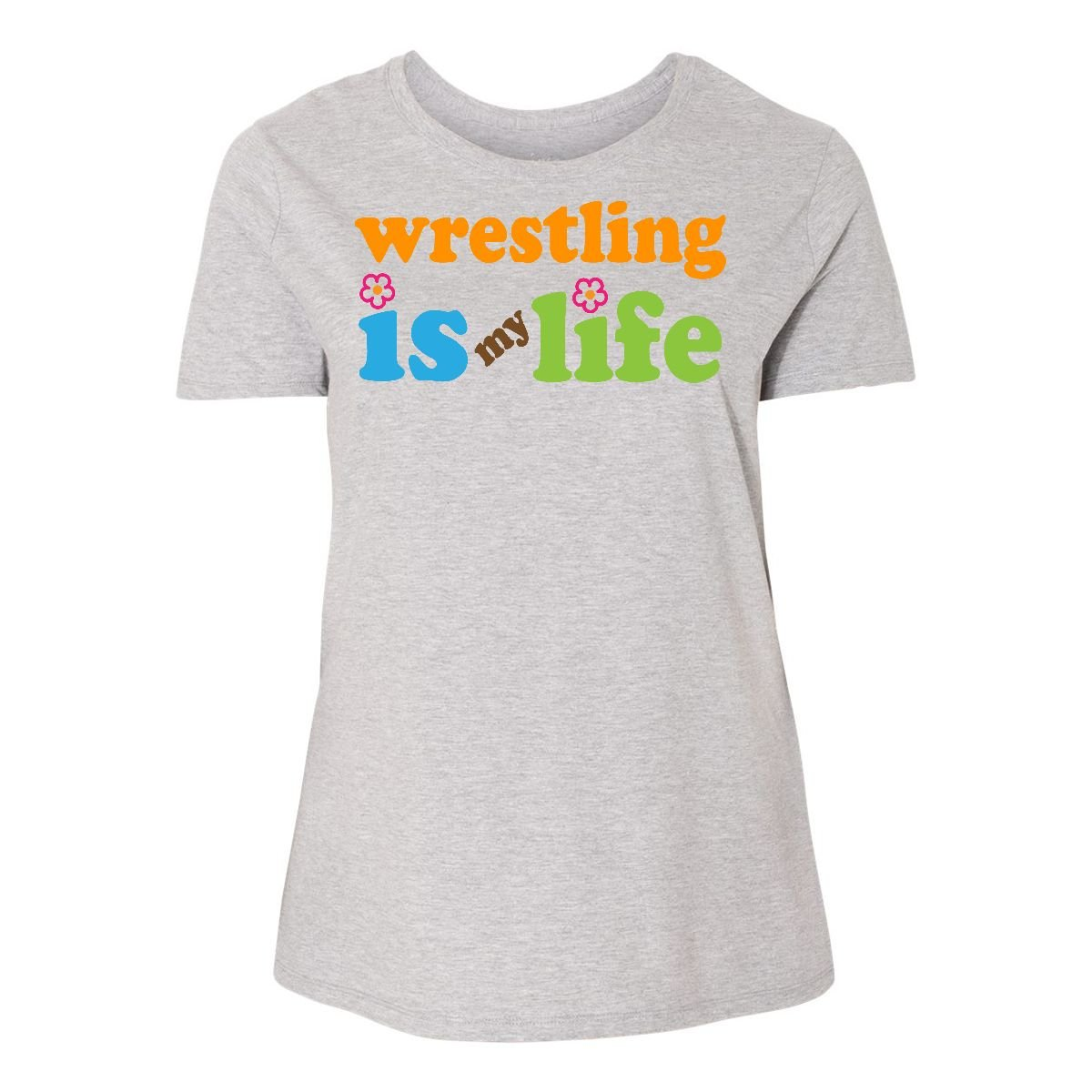 inktastic Wrestling Is My Life Women's Plus Size T-Shirt 1 (14/16) Steel Grey