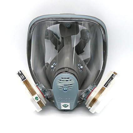 Para 6800 SJL máscara de gas completa – protección para cara mascarilla 7piece traje con pintura