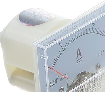gazechimp Amp/èrem/ètre Analogique Amp/èrem/ètre 0-20A Jauge 20A