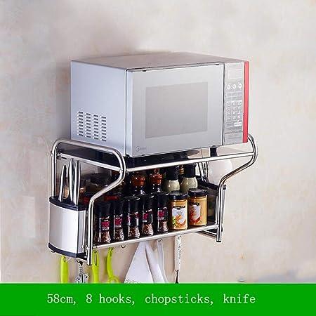 GYH-CHU 304 Estantería de Acero Inoxidable para microondas y ...
