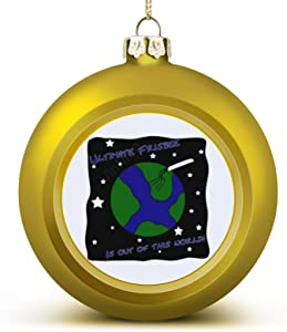 VinMea Christmas Ball Ornaments Ultimate Frisbee Out of This World Christmas Hanging Ball Decorative for Christmas Trees,Holiday Party