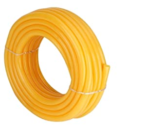 garbnoire Flexible 0.5 inch and 10 Mt Long Garden Water/PVC/Car and Bike Wash Pipe with Hose Connector (Yellow)
