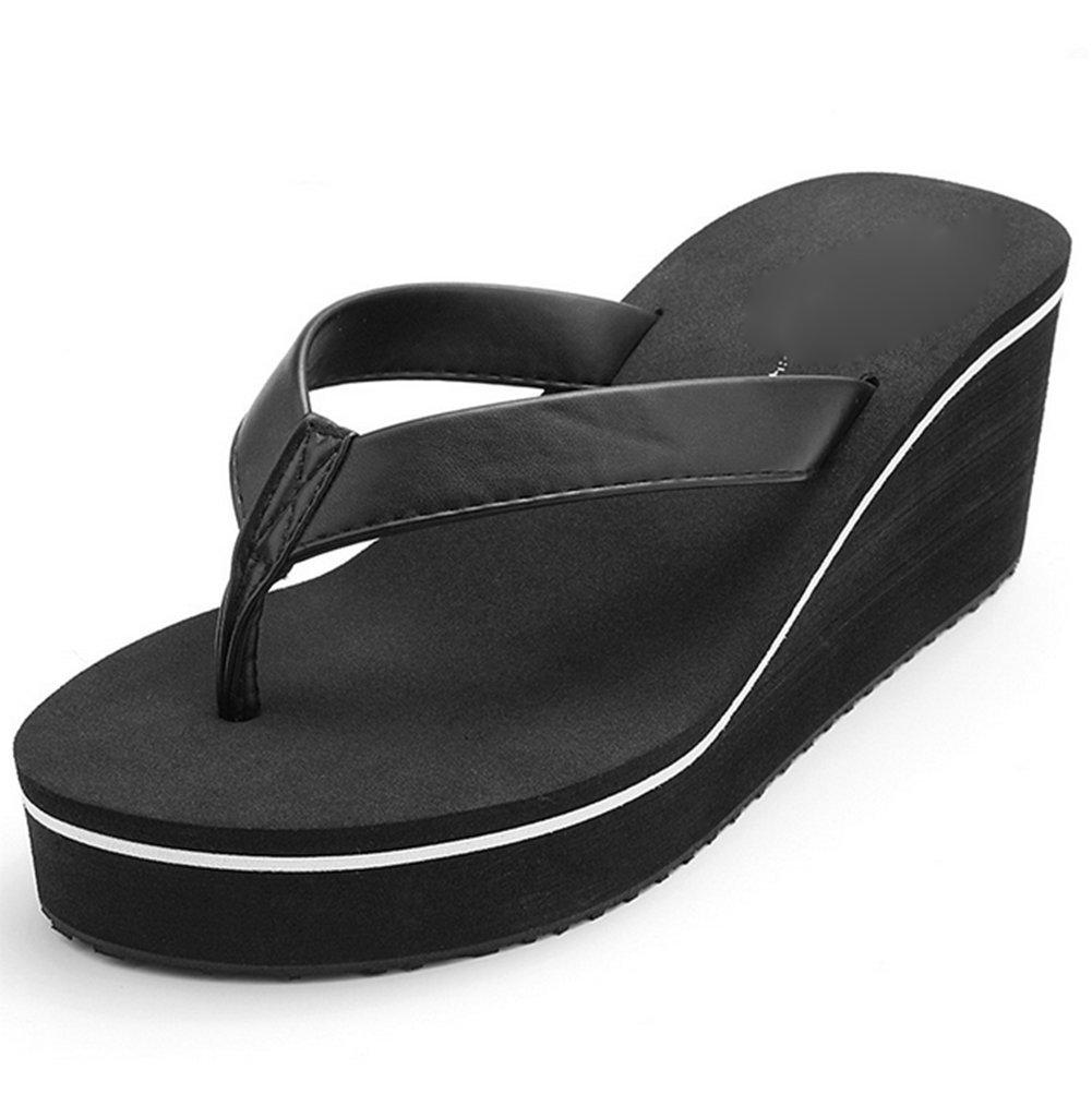 weiwei Damen Sommer High Heel Flip Flops,Strand Hausschuhe  Fu?l?nge=22.3CM(8.8Inch) C