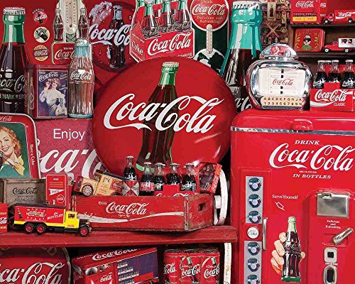 Springbok Puzzles - Coca-Cola Memories - 1500 Piece Jigsaw Puzzle - Large 28.75 Inches by 36 Inches Puzzle - Made in USA - Unique Cut Interlocking Pieces - Officially Licensed Coca Cola Puzzle