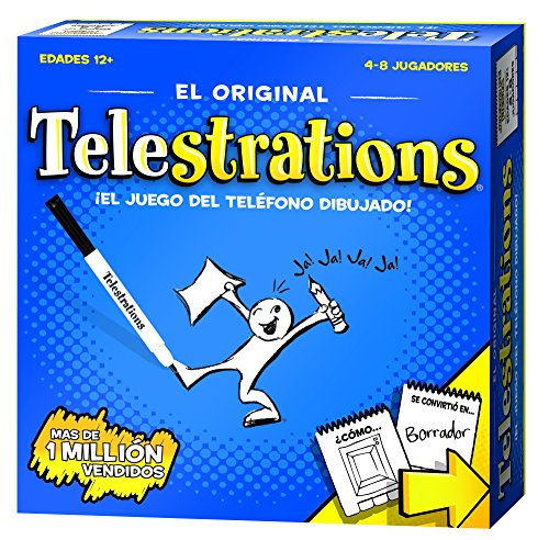 USAopoly Spanish Edition Telestrations Board Games (Game Telestrations Board)