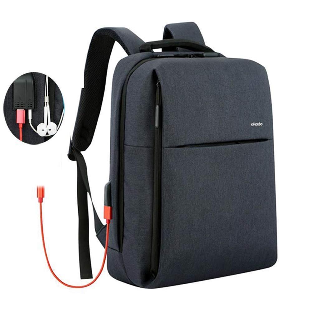 SUNSEATONラップトップバックパック、USB充電ポート付きビジネスアンチセフトバックパック、ラップトップブリーフケースビジネス/大学/仕事用15.6インチプロフェッショナル軽量カジュアルバックパック(ダークブルー) B07JVV7BFQ