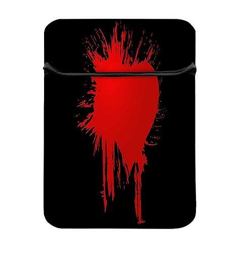 Snoogg Bloody Corazón 17 cm fácil acceso funda acolchada ...