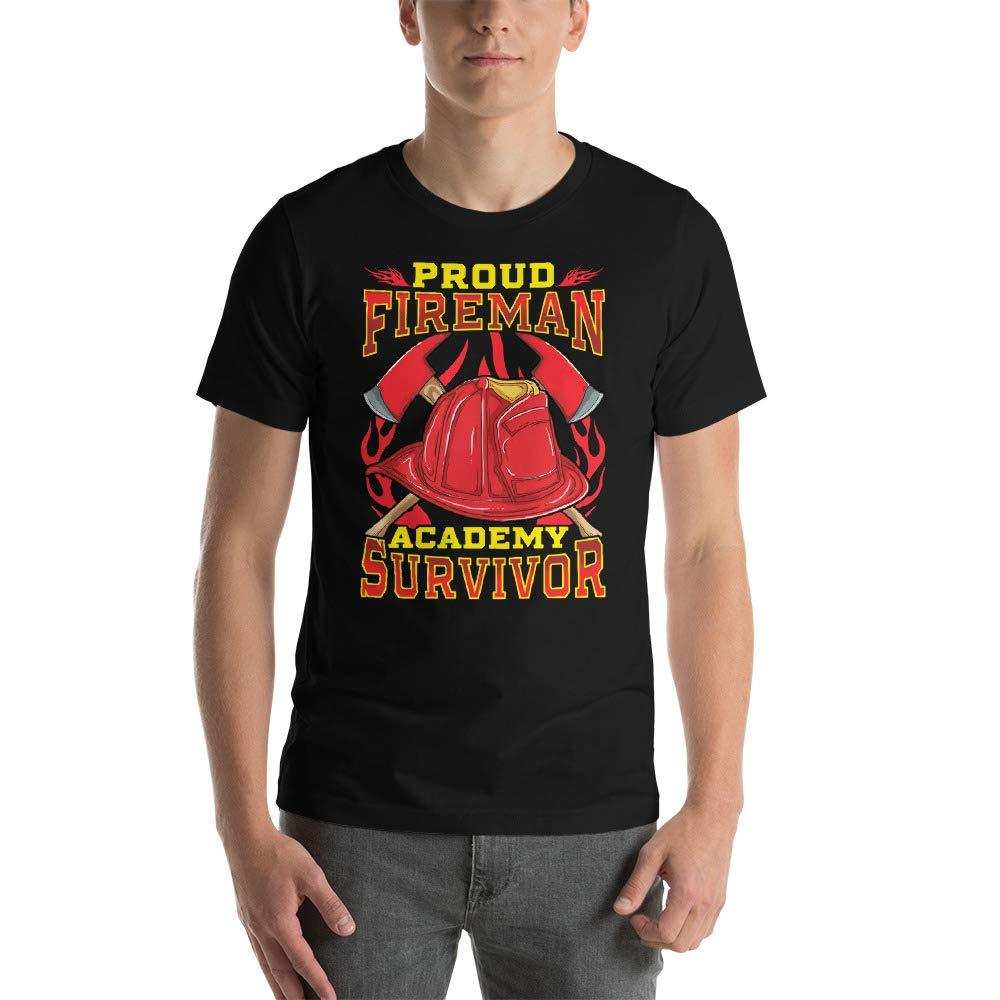Proud Fireman Academy Survivor Short-Sleeve Unisex T-Shirt